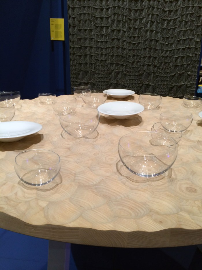 Stockholmfurniturefair Greenhouse | The Young Swedish Design exhibition. Umami table and dinnerware by Sofia Almqvist. Photo. arctictrend